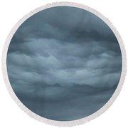 Mystical Clouds Round Beach Towel