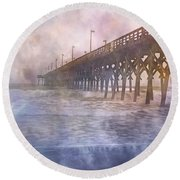Mystical Morning Round Beach Towel