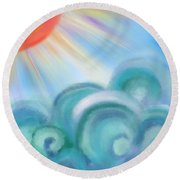 Mystical Sea Squared Round Beach Towel