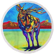 Mythical Elk Round Beach Towel