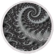 Mythical Tail  Round Beach Towel