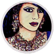 Nadira Round Beach Towel