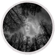 Naked Branches Round Beach Towel
