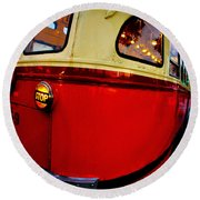 San Francisco Streetcar Round Beach Towel
