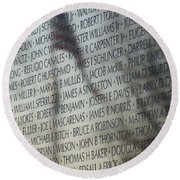 Names On A Wall Round Beach Towel