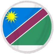 Namibia Flag Round Beach Towel