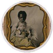Nanny And Child, C1855 Round Beach Towel