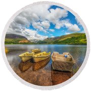Nantlle Lake Round Beach Towel
