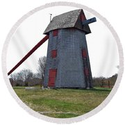 Nantucket Old Mill Round Beach Towel