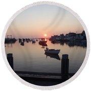 Nantucket Sunrise 1 Round Beach Towel