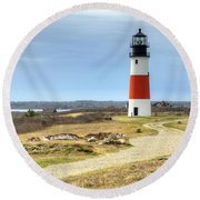 Nantucket's Sankaty Head Light Round Beach Towel