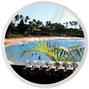 Napili Bay Maui Hawaii Round Beach Towel