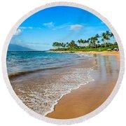 Napili Beach Paradise Round Beach Towel
