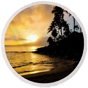 Napili Sunset Evening  Round Beach Towel