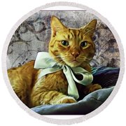 Napoleon And The Ribbon Round Beach Towel