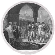 Napoleon At Jaffa, 1799 Round Beach Towel