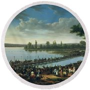 Napoleon Before The Battle Of Wagram, 6th July 1809 Round Beach Towel