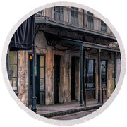 Napoleon House In French Quarter Round Beach Towel