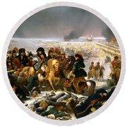 Napoleon On The Battlefield Of Eylau Round Beach Towel
