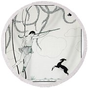 Narcisse Round Beach Towel