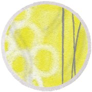 Narcissus Round Beach Towel