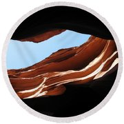 Narrow Canyon Vi Round Beach Towel