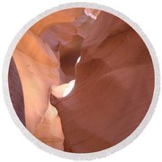Narrow Canyon Viii - Antelope Canyon Round Beach Towel