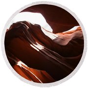Narrow Canyon X Round Beach Towel