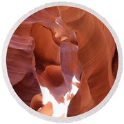 Narrow Canyon Xiii Round Beach Towel