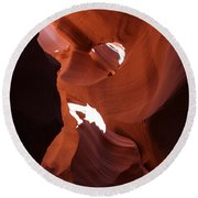 Narrow Canyon Xiv Round Beach Towel