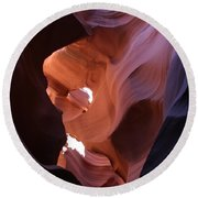 Narrow Canyon Xv Round Beach Towel