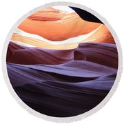 Narrow Canyon Xviii Round Beach Towel