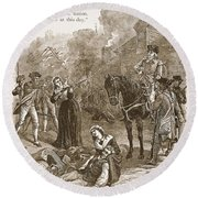 Narrow Escape Of Benedict Arnold, When Round Beach Towel
