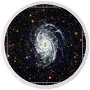 Nasa Big Brother To The Milky Way Round Beach Towel