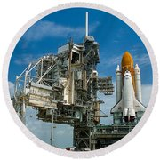 Nasa Space Shuttle Round Beach Towel
