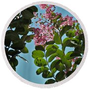 Nashville Flowers Round Beach Towel