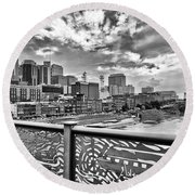 Nashville From The Shelby Bridge Round Beach Towel