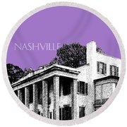 Nashville Skyline Belle Meade Plantation - Violet Round Beach Towel