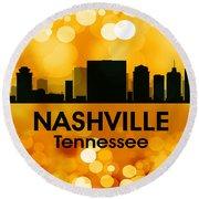 Nashville Tn 3 Round Beach Towel