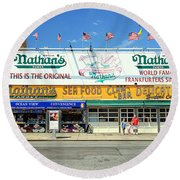 Nathan's Coney Island Round Beach Towel