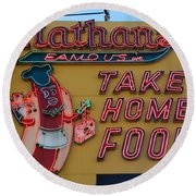 Nathan's Famous Round Beach Towel