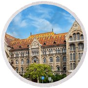 National Archives Of Hungary Round Beach Towel