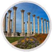 National Capitol Columns Round Beach Towel