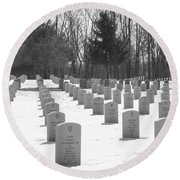 National Cemetery   # Round Beach Towel