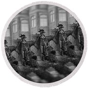 National Cowgirl Museum Round Beach Towel