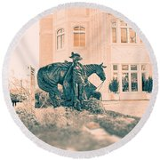 National Cowgirl Museum V2 Round Beach Towel
