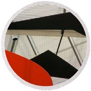 National Gallery Of Art Abstract Round Beach Towel