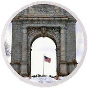 National Memorial Arch Round Beach Towel