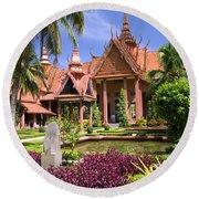 National Museum In Phnom Penh Round Beach Towel