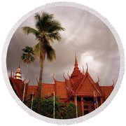 National Museum Of Cambodia Round Beach Towel